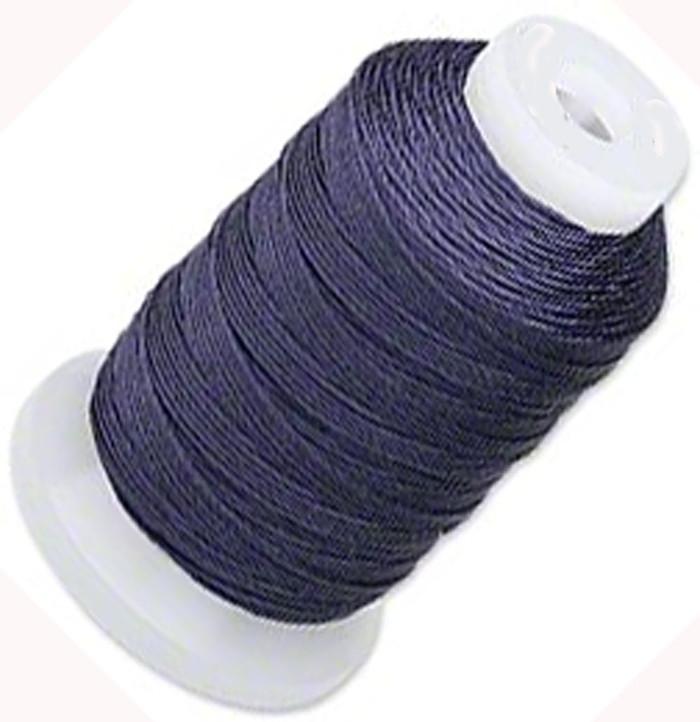 Silk Beading Thread Cord Size FF Navy Blue 0.015 Inch 0.38mm Spool 115 Yd