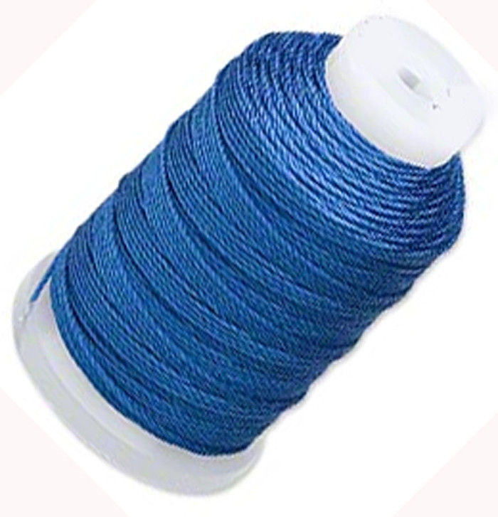 Silk Beading Thread Cord Size E Royal Blue 0.0128 Inch 0.325mm Spool 200 Yd