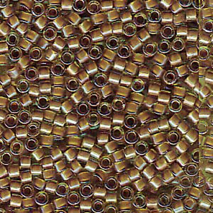 Cocoa Lined Chartreuse Ab (Db1738) Delica Myiuki 11/0 Seed Bead 7.2 Gram