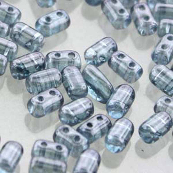Rulla CRYSTAL BLUE LUSTER Czech Glass 2-hole Seed Beads 3x5mm 22 Grams