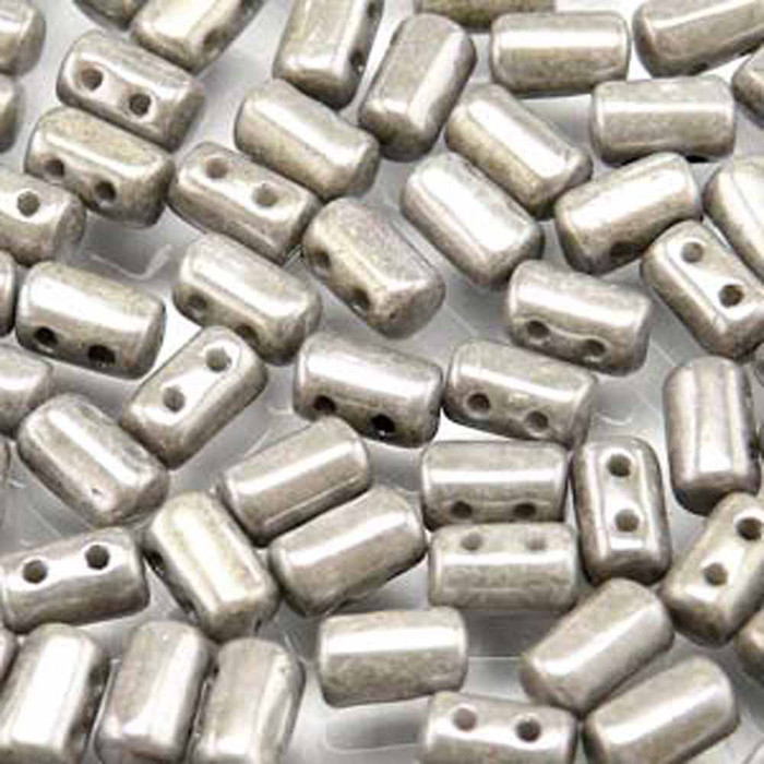 Rulla CHALK JET LUSTER Czech Glass 2-hole Seed Beads 3x5mm 22 Grams