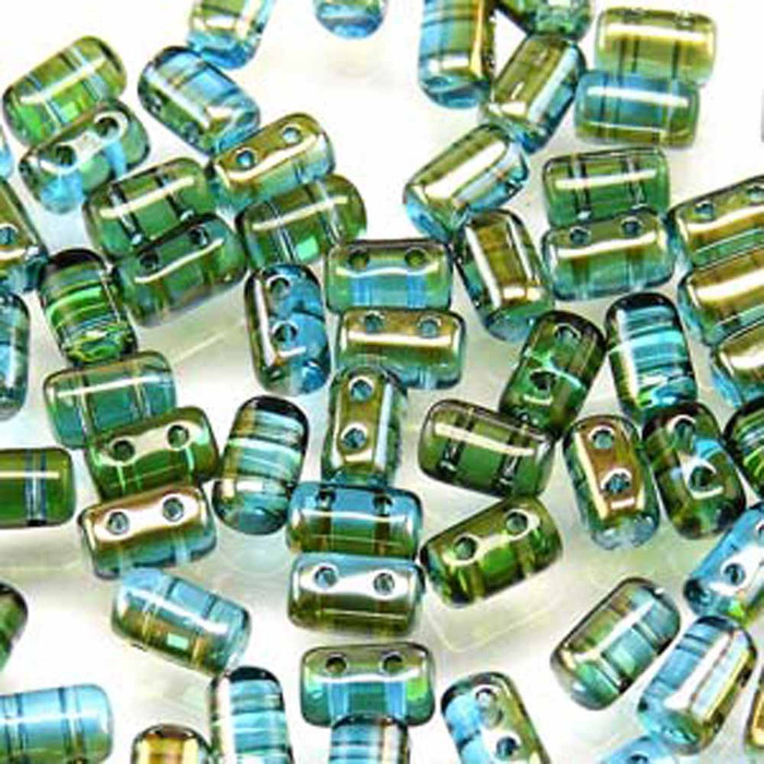 Rulla AQUAMRINE CELSIAN Czech Glass Seed Beads 3x5mm 20 Gram Tube (2 Hole)