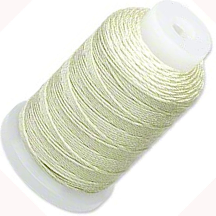 Simply Silk Beading Thick Thread Cord Size FFF (0.016 Inch 0.42mm) Spool 92 Yards Compatible with Kumihimo Super Lon (Light Green)
