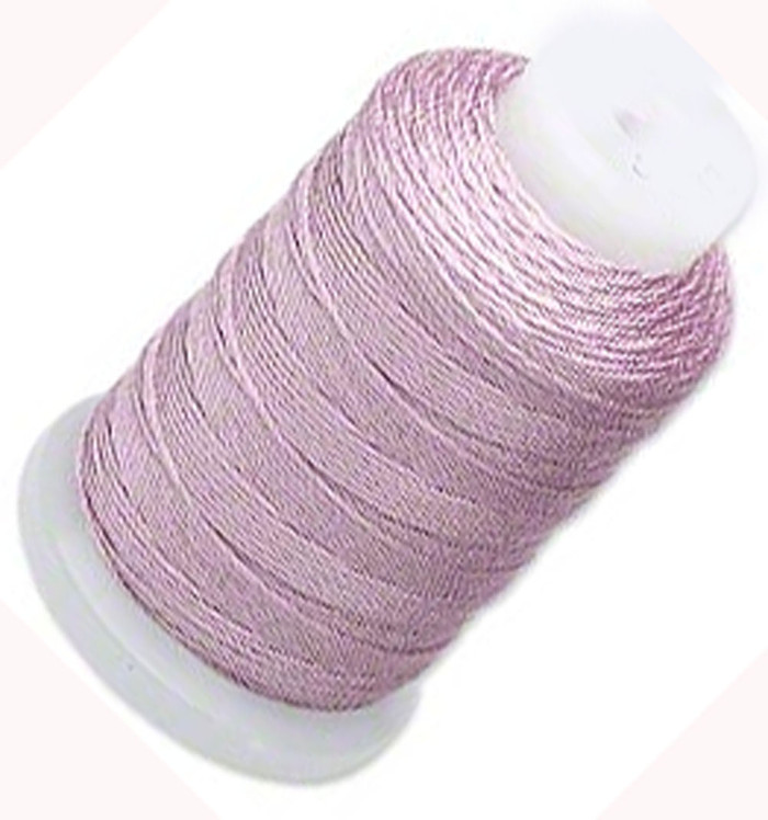 Simply Silk Beading Thick Thread Cord Size FFF (0.016 Inch 0.42mm) Spool 92 Yards Compatible with Kumihimo Super Lon (Lilac)
