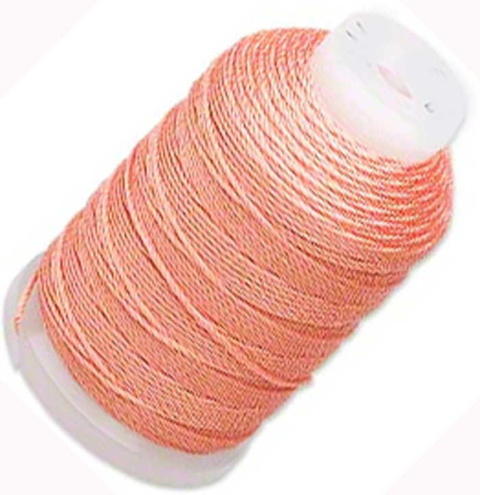 Simply Silk Beading Thick Thread Cord Size FFF (0.016 Inch 0.42mm) Spool 92 Yards Compatible with Kumihimo Super Lon (Tangerine)