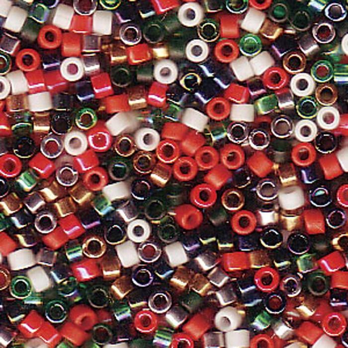 Christmass Mix Delica Myiuki 11/0 Seed Bead 7.2 Gram Beads