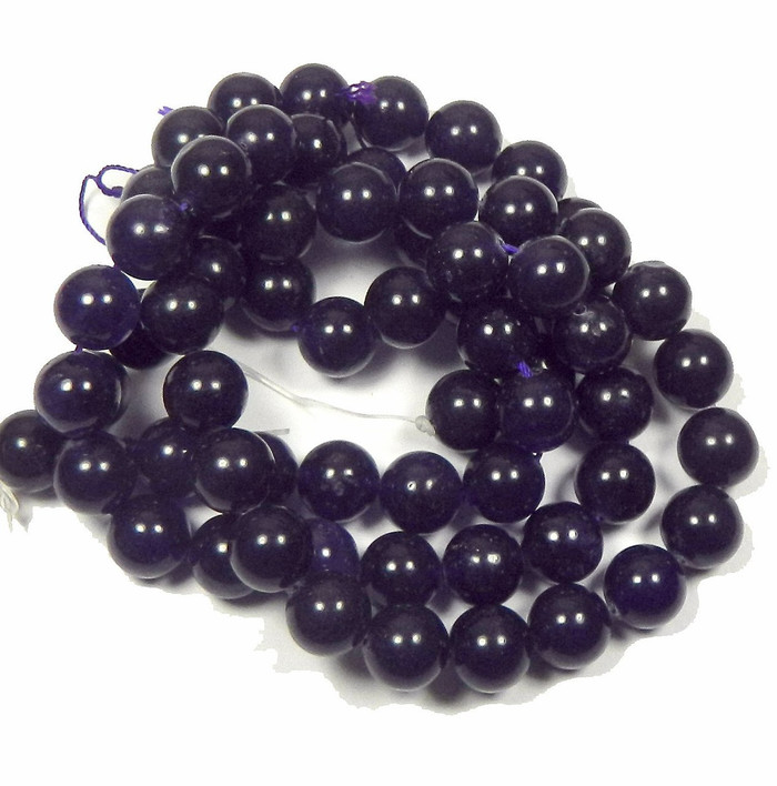 "12mm Amethyst Dyed Round Beads 15"" Stone"