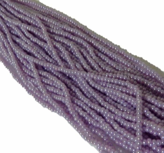 Light Purple Pearl Czech 6/0 Seed Bead on Loose Strung 6 String Hank