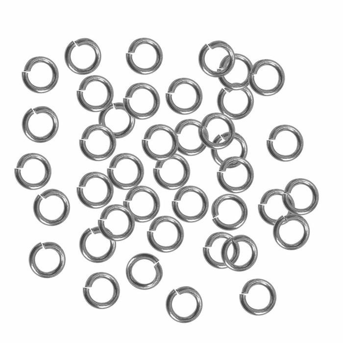 24 grams Opened Stainless Steel Jump Rings 16 Guage 8mm OD 80 pice
