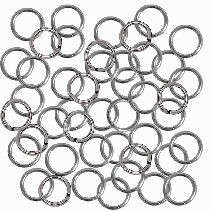 24 grams Opened Stainless Steel Jump Rings 18 Guage 7mm OD 210pc