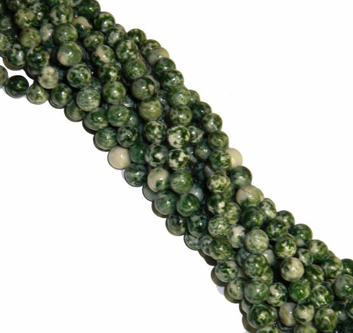 "10mm Tree Agate Round Beads 40cm 15"" Gemstone"