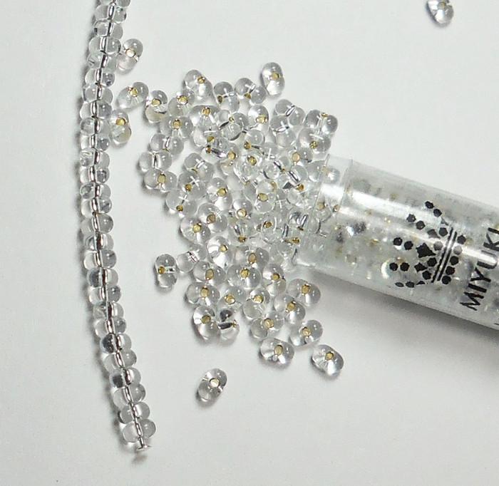 Clear Silver Lined Miyuki Berry Bead 2.5x4.5mm Seed Bead Glass 22 Gram
