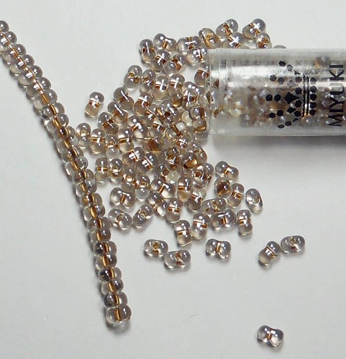 Sparkle Beige Lined Miyuki Berry Bead 2.5x4.5mm Seed Bead Glass 22 Gram
