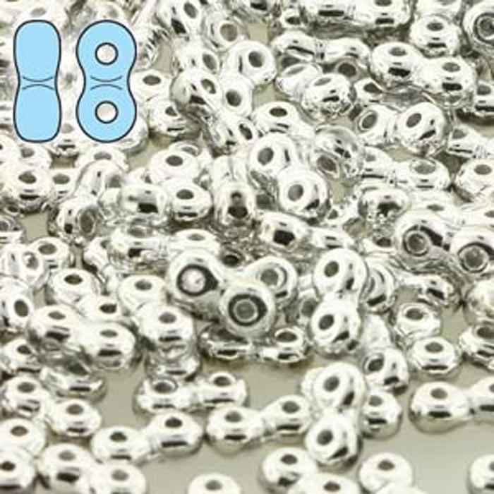 Full Labradore Infinity 2-Hole Czech Glass Beads 7.5 grams 4x8mm