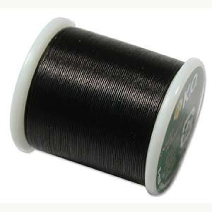 Japanese Nylon Beading Thread by KO for Delica Beads BLACK