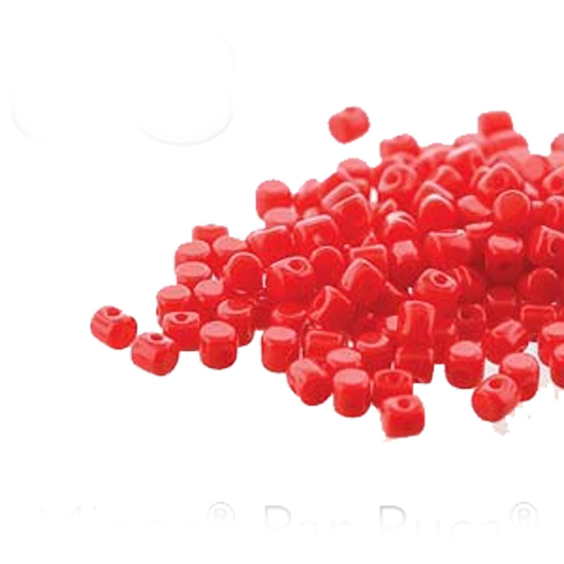 Opaque Coral MINOS® Par PUCA® 2 5x3mm Cylinder Czech Glass Beads 5 grams HP-MNS253-93200-5G