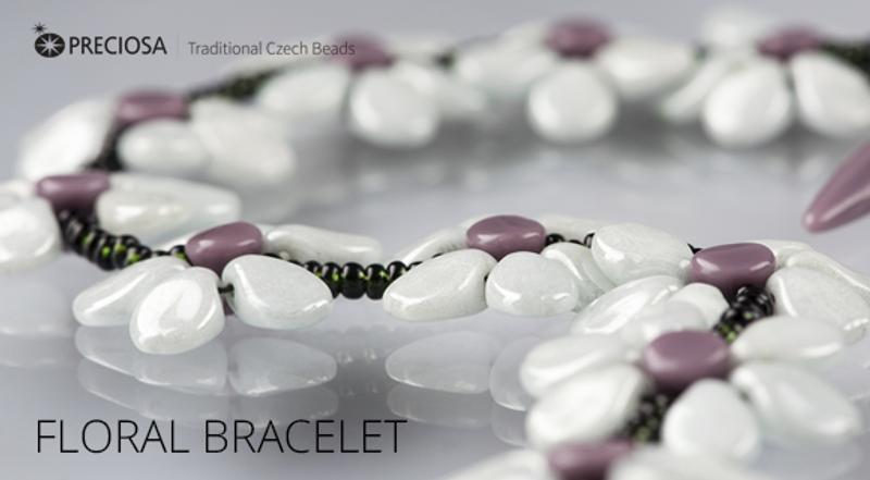 Floral Bracelet Free Jewelry Making Project complements Preciosa Floral Bracelet