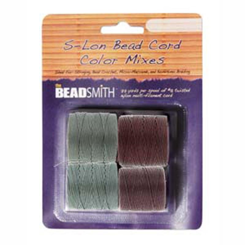 4 Spools Super-lon #18 Nylon Beading Jewelry Stringing Cord S-lon Dusk