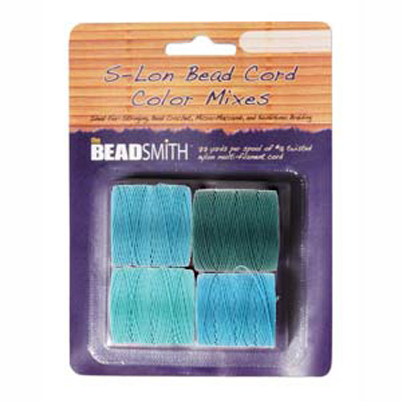 4 Spools Super-lon #18 Nylon Beading Jewelry Stringing Cord S-lon Marine