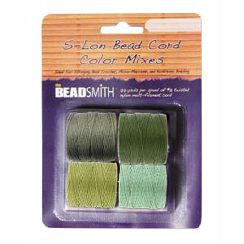 4 Spools Super-lon #18 Nylon Beading Jewelry Stringing Cord S-lon Herb
