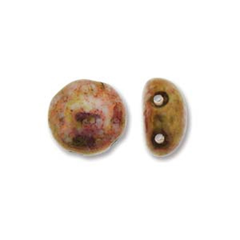 Senegal Purple Preciosa Czech Glass Candy Beads 8mm 2-Hole Cabochon CND0802010-15696