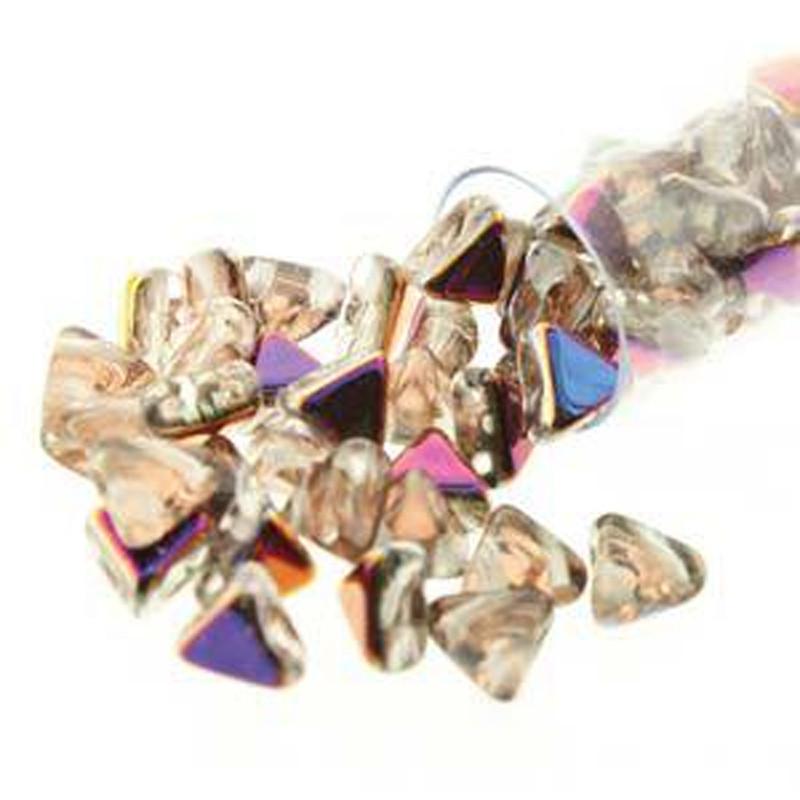 Crystal Sliperit 9 Gram Kheops Par Puca 6mm 2 Hole Triangle Czech Glass Beads KHP06-00030-29501-TB