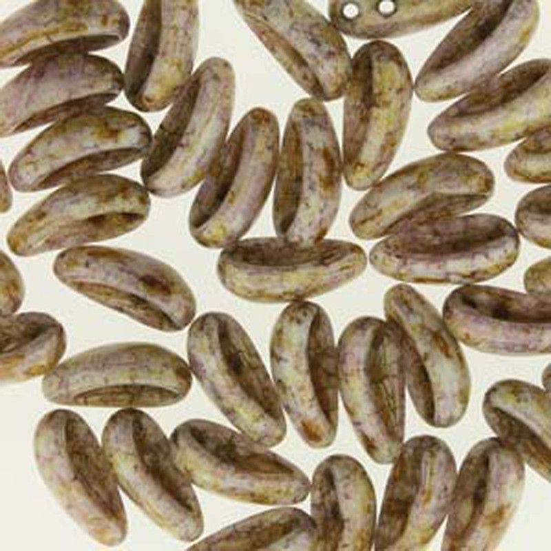 Chalk Senegal Brown 40 Chilli 2-Hole 4x11mm Czech Glass Beads CHL41102010-15695