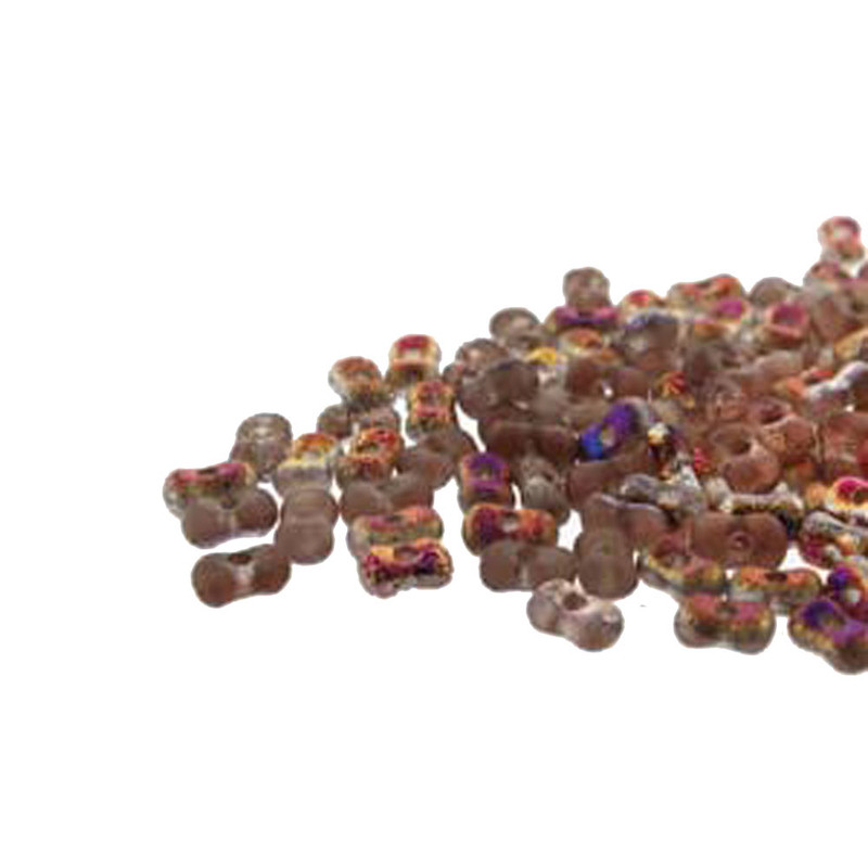Etch Crys Sliperit Farfalli 3.2x6.4mm Peanut Czech Glass Beads 19 grams