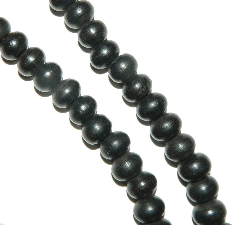 """13x10mm Oval Hand Carved Horn Beads 3mm Hole 15"""" Strand BA-19284-HHB-604"""