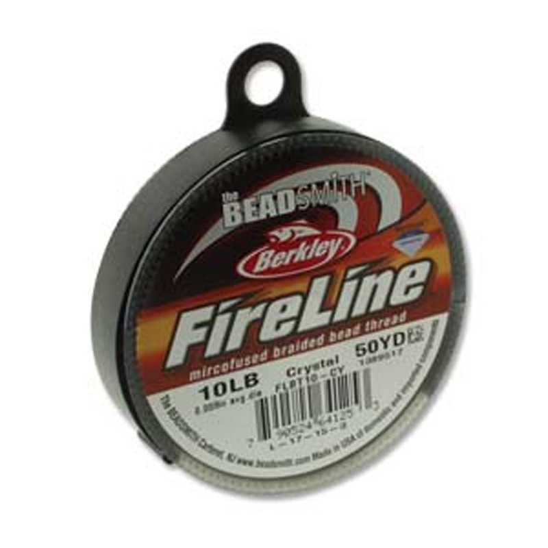 "10lb BeadSmith Burkley FireLine Braided Bead Thread .008"" .2mm Crystal FL11CR50"