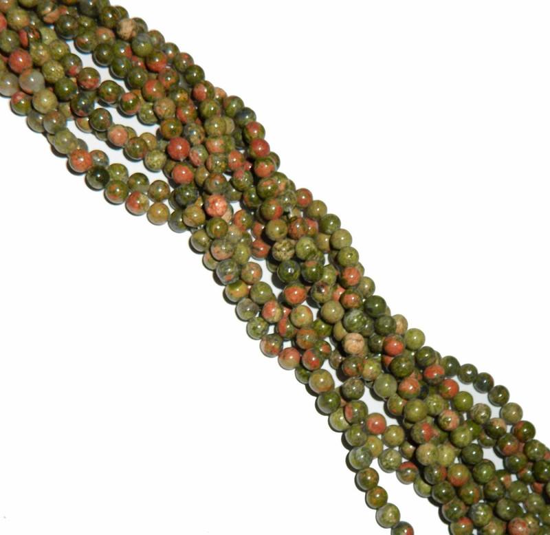 """8mm Unakite Natural  Round Beads 40cm 15""""  Gemstone"""