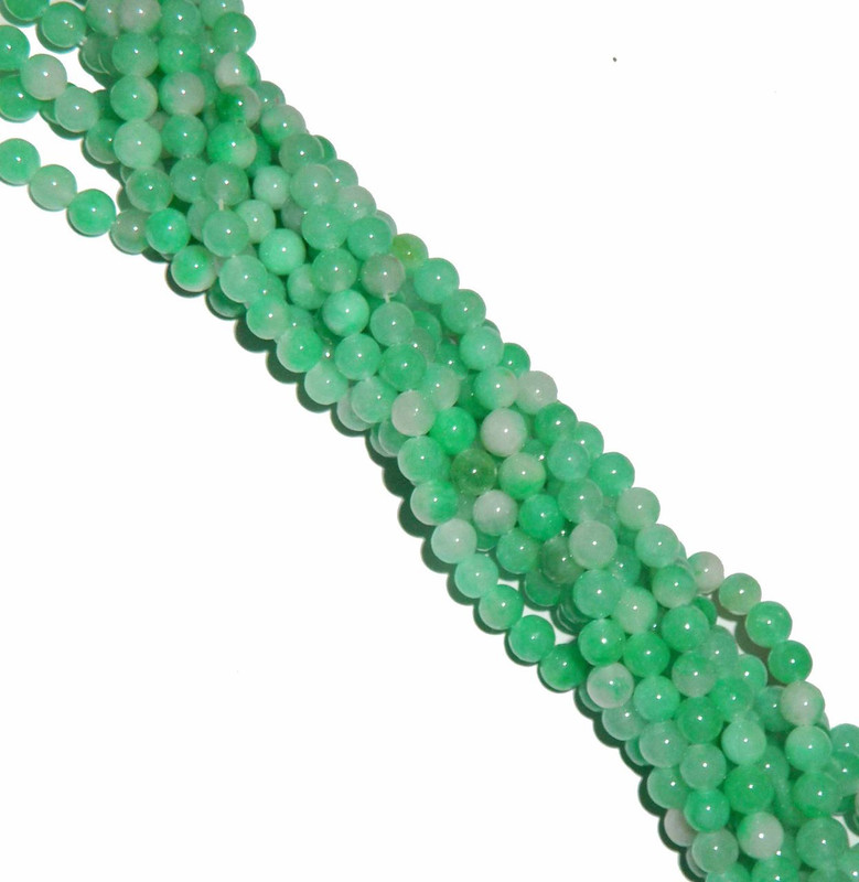 "8mm Jade Dyed Shanghai Round Beads 40 cm 15"" Gemstone"