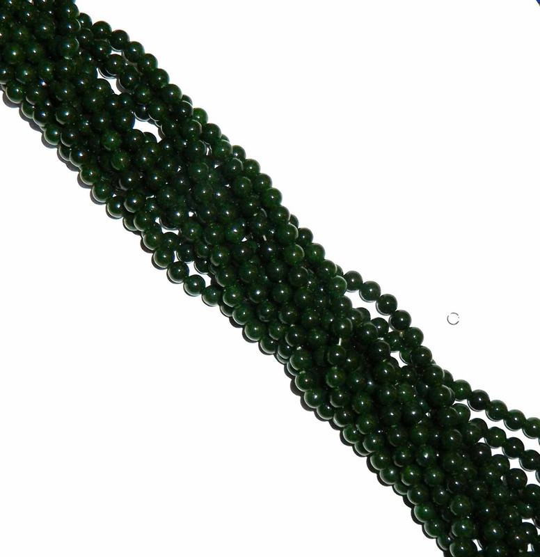 "8mm Jade British Columbia Round Beads 40 cm 15"" Gemstone"