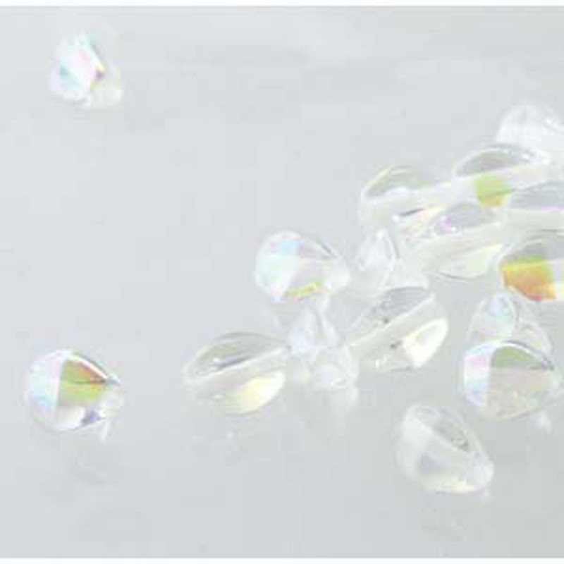 Pinch Czech Glass Beads 5mm Crystal Ab 50 Beads Loose Strand