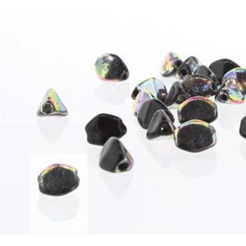 Pinch Czech Glass Beads 5mm Jet 50 Beads Loose Strand
