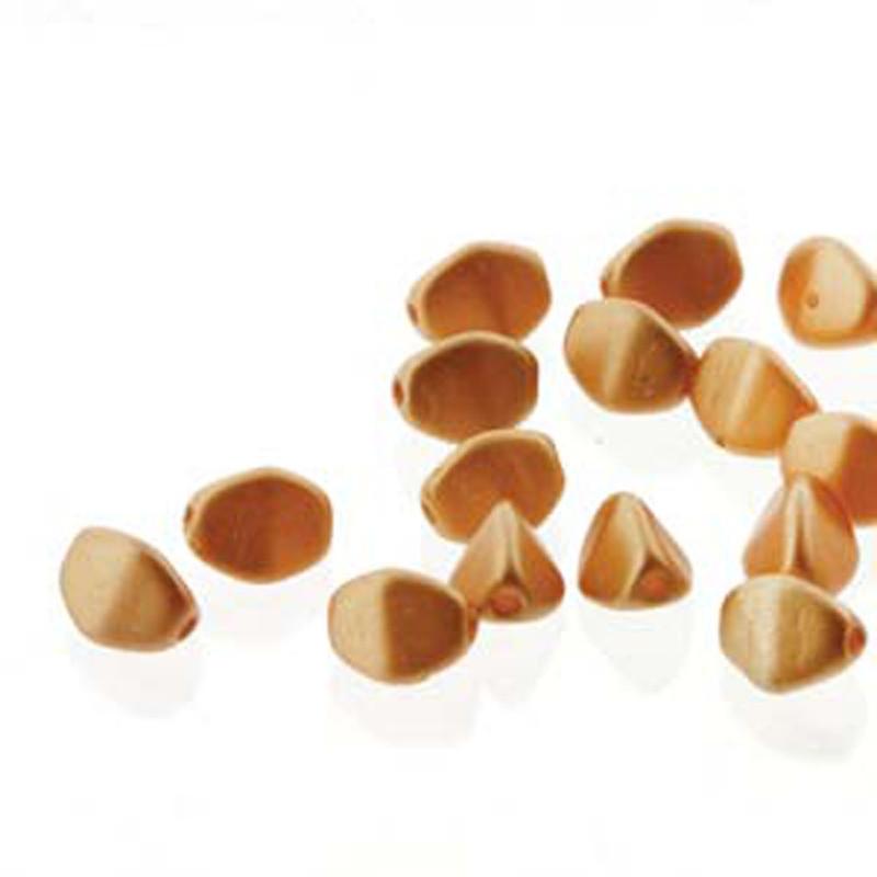 Pinch Czech Glass Beads 5mm Pastel Amber 50 Beads Loose Strand