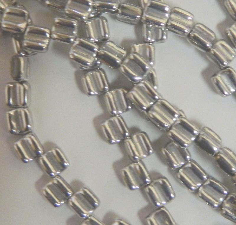 Groovy 6mm Czchmate Glass Czech Two Hole Crystal Full Labrador 40 Beads GRV0600030-27000