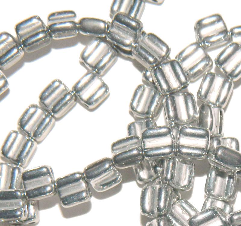 Groovy 6mm Czchmate Glass Czech Two Hole Bronze Aluminum 40 Beads GRV0600030-01700