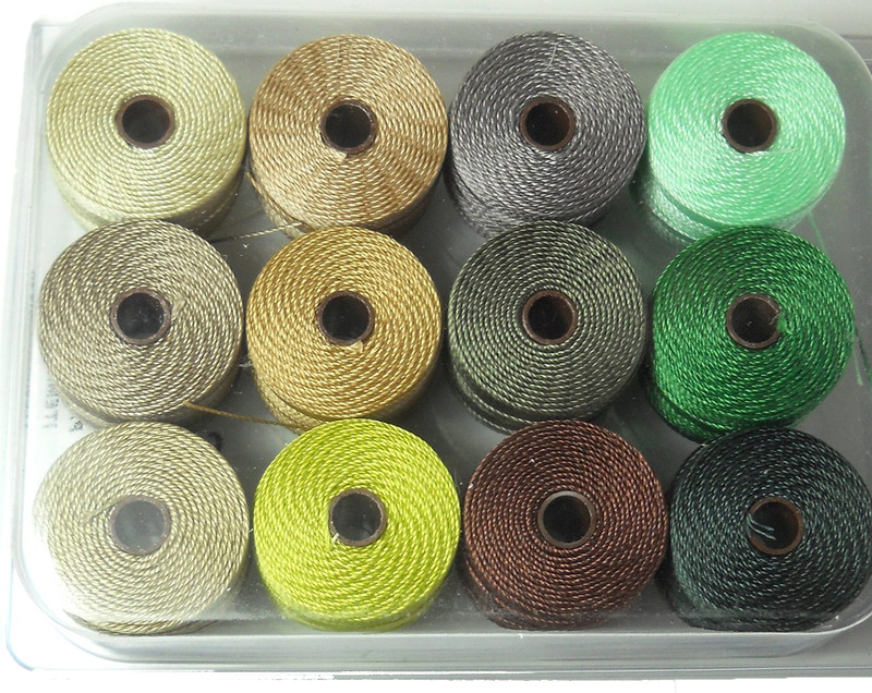 12 Super-lon #18 Nylon Beading Jewelry Stringing Cord S-lon Summer Mix SLBC-MIX40