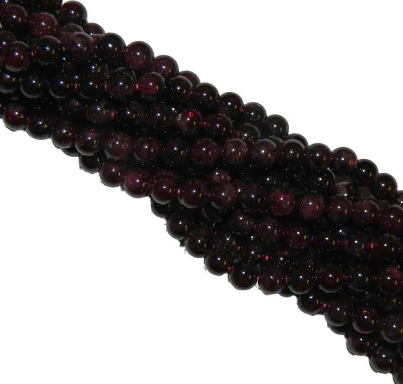 8mm Garnet Gemstone Round beads 15 Inch Loose Strand B2-M103