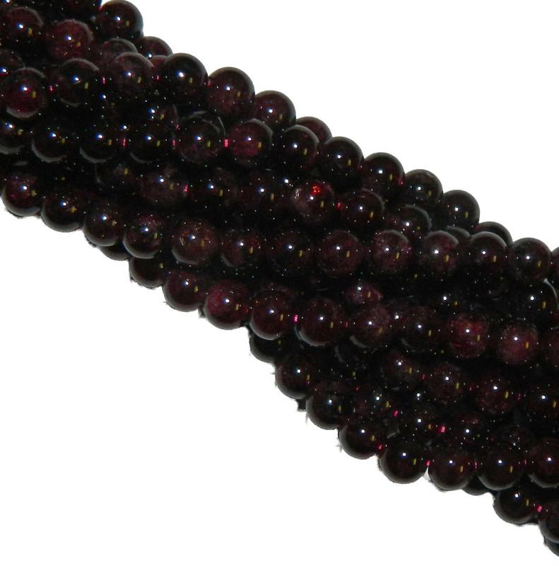 10mm Garnet Gemstone Round beads 15 Inch Loose Strand B2-M104