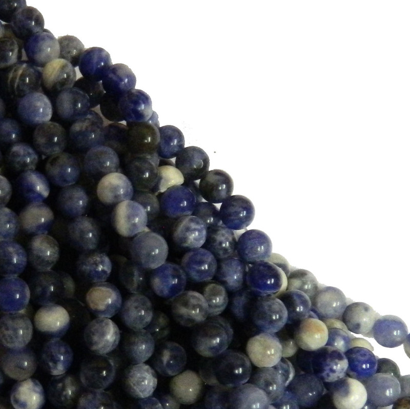 Sodalite 6mm Natural Gemstone Rondelle Beads 15 Inch Loose B2-R24-6