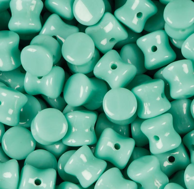 Opaque RTurquoise Green Preciosa Czech Glass 4x6mm Pellet 30 Beads PLT46-63130