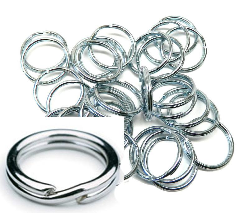 5 Pack 1-Inch Split KEY Ring Keychain Zinc Plated Steel USA AC-90204
