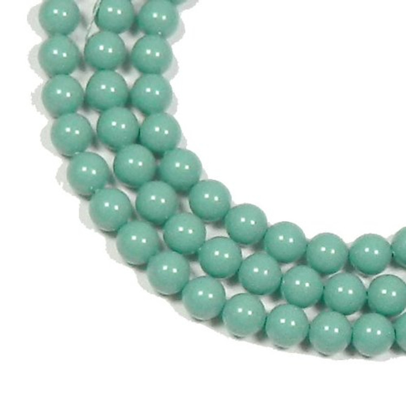 "100 Swarovski Crystal Pearls 4mm Round Beads 5810. 16"" Loose Strand Jade 581004CJP"