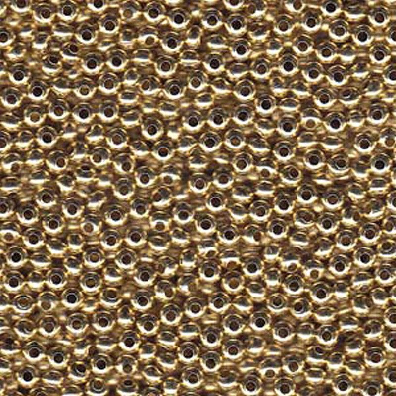 Genuine Metal Seed Beads 8/0 Yellow Brass 40 Grams