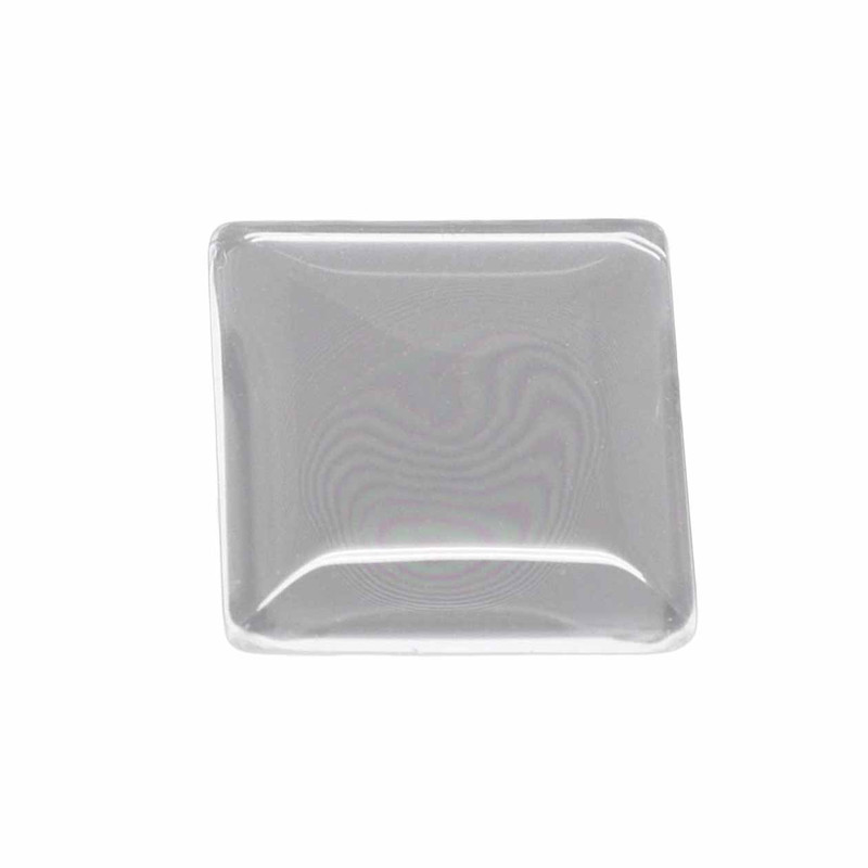 "3 Clear Glass Dome Tile Cabochon Clear 20x20mm 0.79"" Non-calibrated Square AC-B16769"