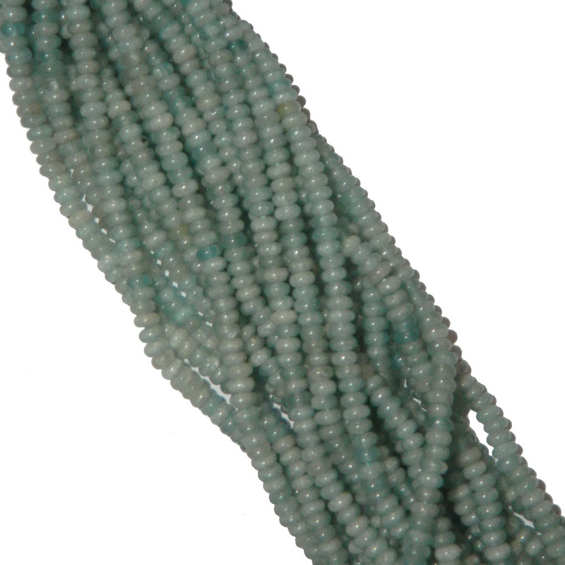 Amazonite 4mm Faceted Natural Gemstone Rondelle Beads 15 Inch Loose B2-S1D51