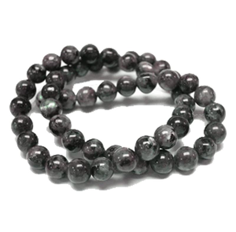 10mm Round Black Labradorite Gemstone Beads 15 inch Loose Strand B2-10D40