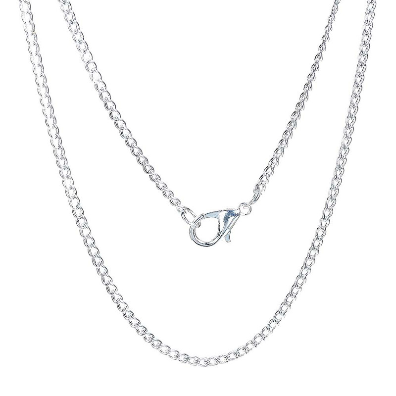 12 Pack Silver Plated 2.3mm Curb Chain Necklace 18 Inch RB0082726
